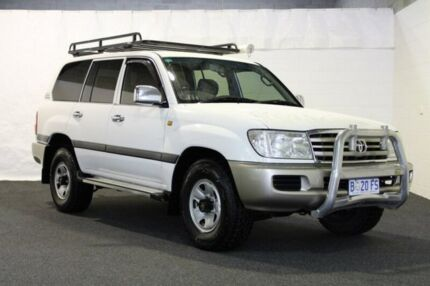 2005 Toyota Landcruiser UZJ100R GXL (4x4) White 5 Speed Manual Wagon Derwent Park Glenorchy Area Preview