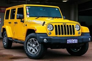 2015 Jeep Wrangler JK MY2016 Unlimited Overland Yellow 5 Speed Automatic Hardtop Northbridge Perth City Area Preview