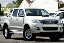 2013 Toyota Hilux KUN26R MY14 SR5 Double Cab Silver 5 Speed Automatic Utility Osborne Park Stirling Area Preview