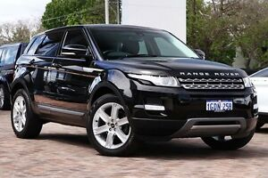 2012 Land Rover Range Rover Evoque L538 MY12 TD4 CommandShift Pure Black 6 Speed Sports Automatic Osborne Park Stirling Area Preview