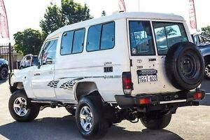 2009 Toyota Landcruiser VDJ78R MY10 Workmate Troopcarrier White 5 Speed Manual Wagon Bayswater Bayswater Area Preview