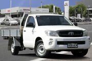 2009 Toyota Hilux TGN16R MY10 Workmate 4x2 Glacier White 4 Speed Automatic Cab Chassis Adelaide CBD Adelaide City Preview