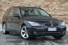 2008 BMW 530i E61 MY08 Touring Steptronic Blue 6 Speed Sports Automatic Wagon North Melbourne Melbourne City Preview