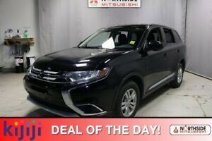 2018 Mitsubishi Outlander AWC ES Heated Seats,  Back-up Cam,  Bl