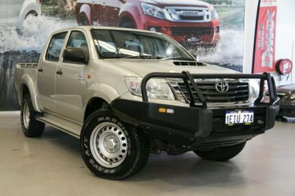 2013 Toyota Hilux KUN26R MY12 SR Double Cab Silver 4 Speed Automatic Utility