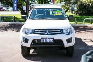 2014 Mitsubishi Triton MN MY15 GLX Double Cab White 5 Speed Manual Utility Wilson Canning Area Preview