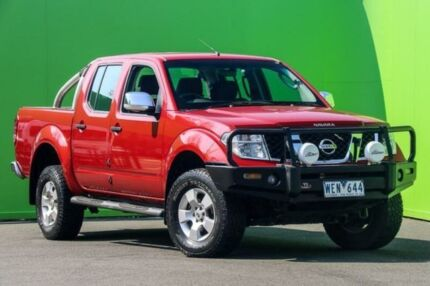 2007 Nissan Navara D40 ST-X Red Automatic Utility Ringwood East Maroondah Area Preview