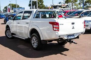 2015 Mitsubishi Triton MQ MY16 GLX Double Cab White 5 Speed Sports Automatic Utility Wilson Canning Area Preview