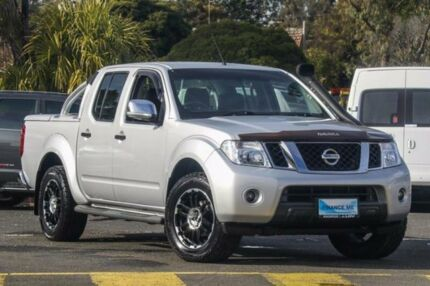 2011 Nissan Navara D40 ST-X Silver Manual Utility Ringwood East Maroondah Area Preview