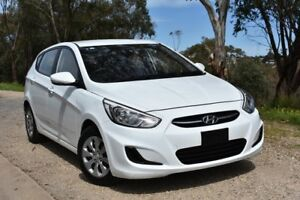2016 Hyundai Accent RB4 MY16 Active White 6 Speed Constant Variable Hatchback St Marys Mitcham Area Preview