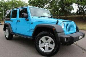 2017 Jeep Wrangler JK MY18 Unlimited Sport Blue 5 Speed Automatic Softtop