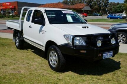 2010 Toyota Hilux KUN26R MY10 SR Xtra Cab White 5 Speed Manual Cab Chassis Pearsall Wanneroo Area Preview