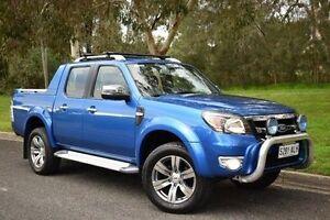 2011 Ford Ranger PK Wildtrak Crew Cab Blue 5 Speed Manual Utility St Marys Mitcham Area Preview