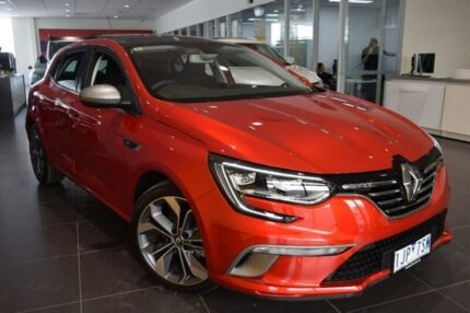 2016 Renault Megane BFB GT-Line EDC Red 7 Speed Sports Automatic Dual Clutch Hatchback