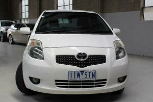 2008 Toyota Yaris NCP90R Rush White 5 Speed Manual Hatchback Knoxfield Knox Area Preview