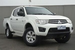 2012 Mitsubishi Triton White Manual Utility Heidelberg Heights Banyule Area Preview