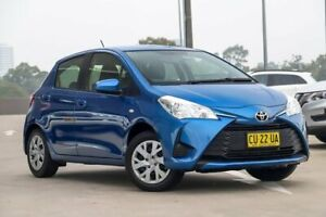 2018 Toyota Yaris NCP130R Ascent Tidal Blue 4 Speed Automatic Hatchback
