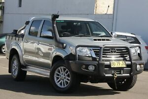 2013 Toyota Hilux KUN26R MY12 SR5 (4x4) Silver 5 Speed Manual Dual Cab Pick-up Dee Why Manly Area Preview