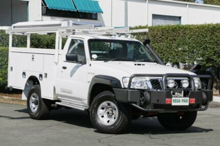 2012 Nissan Patrol GU 6 Series II DX White 5 Speed Manual Cab Chassis