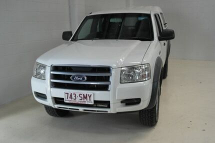 2007 Ford Ranger PJ XL Crew Cab Hi-Rider White 5 Speed Manual Utility Toowoomba Toowoomba City Preview