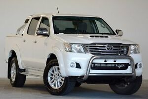 2012 Toyota Hilux KUN26R MY12 SR5 (4x4) White 4 Speed Automatic Dual Cab Pick-up Coopers Plains Brisbane South West Preview