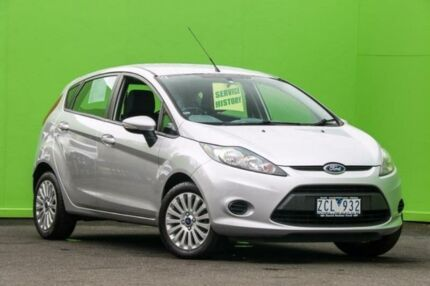 2012 Ford Fiesta WT LX PwrShift Silver 6 Speed Sports Automatic Dual Clutch Hatchback Ringwood East Maroondah Area Preview