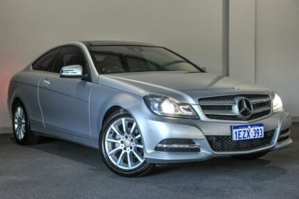 2012 Mercedes-Benz C180 C204 MY13 BlueEFFICIENCY 7G-Tronic + Silver 7 Speed Sports Automatic Coupe Bayswater Bayswater Area Preview