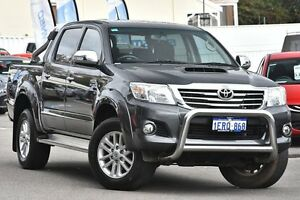 2015 Toyota Hilux KUN26R MY14 SR5 Double Cab Grey 5 Speed Automatic Utility Maylands Bayswater Area Preview