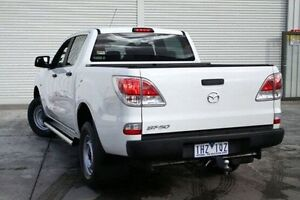 2013 Mazda BT-50 UP0YF1 XT 4x2 Hi-Rider White 6 Speed Sports Automatic Utility Seaford Frankston Area Preview