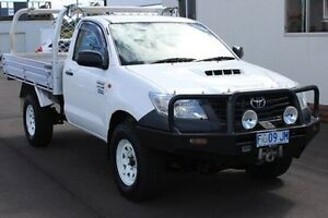 2012 Toyota Hilux KUN26R MY12 Workmate White 5 Speed Manual Cab Chassis Devonport Devonport Area Preview