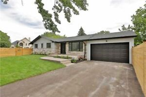 Fully Renovated Detached Bungalow In A Great Area In Burlington!