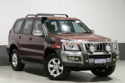 2003 Toyota Landcruiser Prado KZJ120R GXL (4x4) Red 4 Speed Automatic Wagon Bentley Canning Area Preview