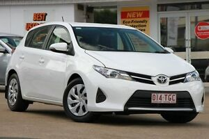 2013 Toyota Corolla ZRE182R Ascent S-CVT White 7 Speed Constant Variable Hatchback Woolloongabba Brisbane South West Preview