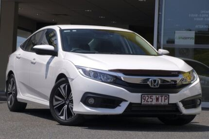 2016 Honda Civic 10th Gen MY16 VTi-L White Orchid 1 Speed Constant Variable Sedan Woolloongabba Brisbane South West Preview