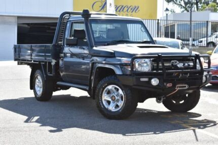 2013 Toyota Landcruiser VDJ79R MY13 GXL Graphite 5 Speed Manual Cab Chassis