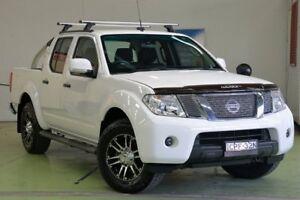 2013 Nissan Navara D40 S6 MY12 ST White 6 Speed Manual Utility Lisarow Gosford Area Preview