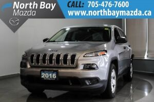 2016 Jeep Cherokee Sport with Bluetooth, New Front Pads & Rotors