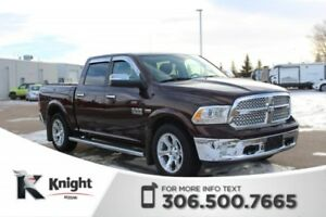 2015 Ram 1500 Laramie 4X4! Low KMs! Accident Free! Command Start