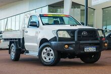 2010 Toyota Hilux KUN26R MY10 SR White 5 Speed Manual Cab Chassis Wangara Wanneroo Area Preview