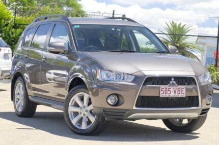 2012 Mitsubishi Outlander ZH MY12 XLS Brown 6 Speed Constant Variable Wagon