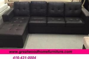 BRAND NEW.. SECTIONAL SOFA BLACK OR CHOCOLATE...$399