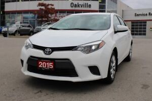 2015 Toyota Corolla LE w/Backup Camera & Bluetooth