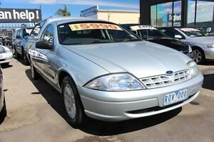 2002 Ford Falcon AU II XL Super Cab Silver 4 Speed Automatic Cab Chassis Heatherton Kingston Area Preview