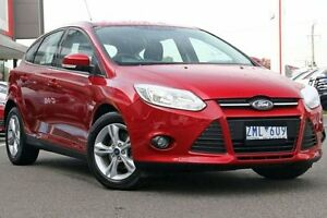 2012 Ford Focus LW Trend PwrShift Red 6 Speed Sports Automatic Dual Clutch Hatchback Mill Park Whittlesea Area Preview