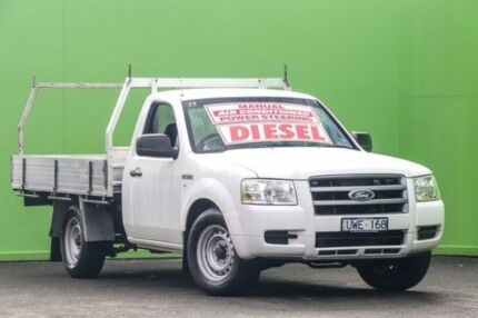 2007 Ford Ranger PJ XL White 5 Speed Manual Cab Chassis Ringwood East Maroondah Area Preview