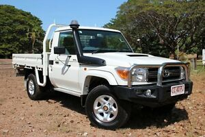 2013 Toyota Landcruiser VDJ79R MY13 GXL French Vanilla 5 Speed Manual Cab Chassis The Gardens Darwin City Preview