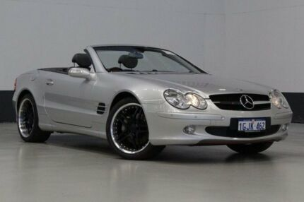2004 Mercedes-Benz SL500 R230 Silver 7 Speed Automatic G-Tronic Convertible Bentley Canning Area Preview