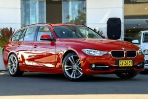 2013 BMW 320i F31 MY0813 Touring Red 8 Speed Sports Automatic Wagon Kirrawee Sutherland Area Preview
