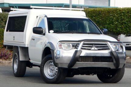 2012 Mitsubishi Triton MN MY12 GLX White 5 Speed Manual Cab Chassis Acacia Ridge Brisbane South West Preview