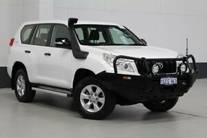 2012 Toyota Landcruiser Prado KDJ150R 11 Upgrade GX (4x4) White 5 Speed Sequential Auto Wagon Bentley Canning Area Preview